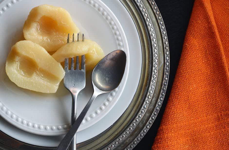 A plate with a fork and knife