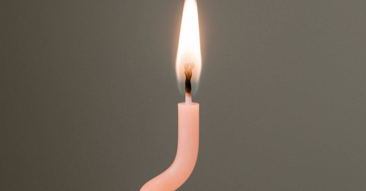 A lit candle